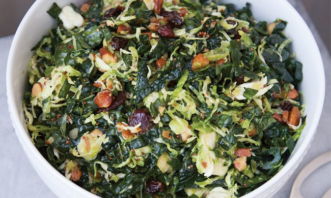 Shaved Brussels Sprouts and Kale Salad Recipe