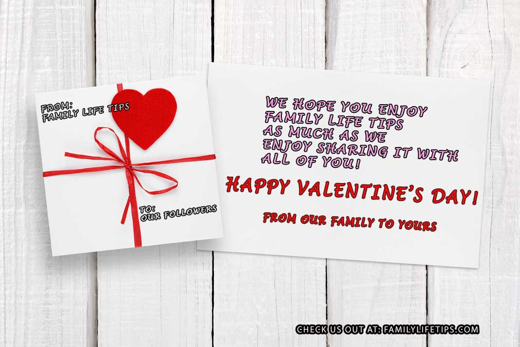 Family Life Tips Valentine's Day Card to Followers - Family Life Tips