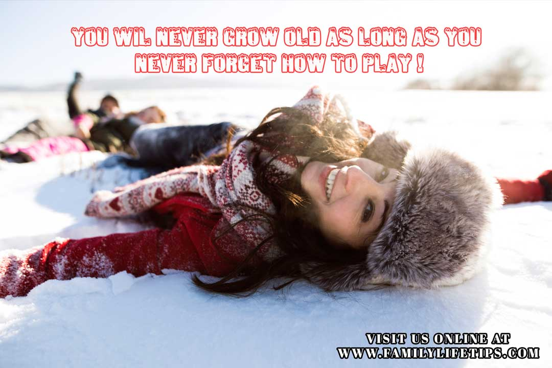 Funny Parenting Snow Day Meme - Stay Young by Playing in the Snow