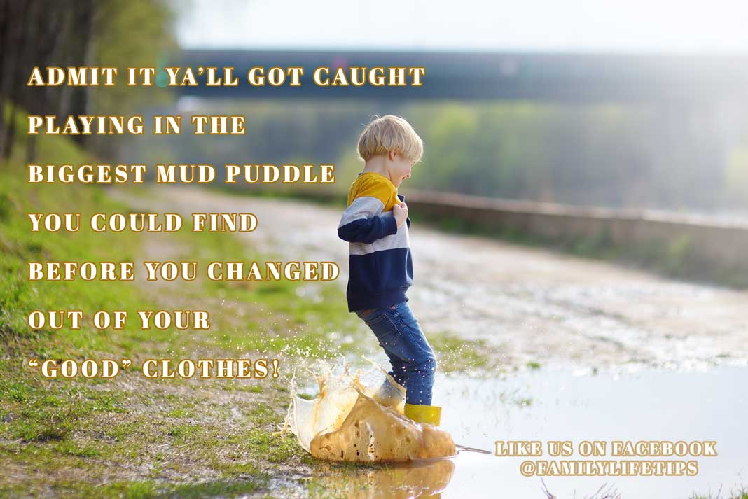 Meme - Caught Playing in a Mud Puddle After the Rain | Outdoor Newspaper